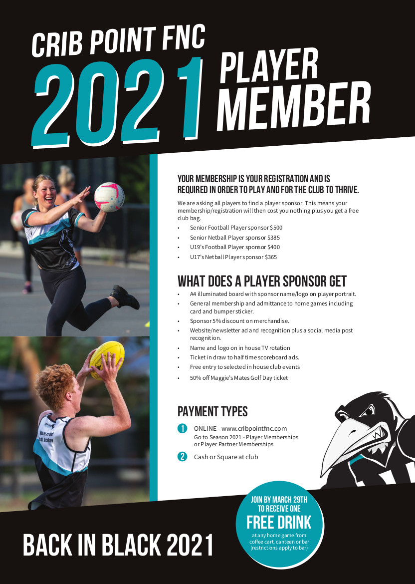 CPFNC Player Membership Flyer 2021 PRINT